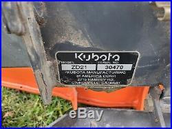 2002 Kubota ZD21 60 Commercial Hydro Zero Turn Lawn Mower Diesel 21hp Engine
