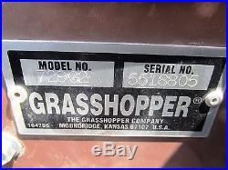 2005 Grasshopper 729g2 Front Deck Power Fold 61 29 HP Kubota Gas Bagger 395 Hrs