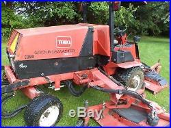 2007 TORO 580D GROUNDSMASTER 16' golf course MOWER 80 HP DIESEL HYDRO 4x4 drive