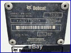 2014 Bobcat T630 Compact Track Skid Steer Loader Only 1000 Hours