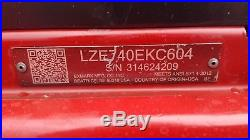 2014 Exmark 60 Lazer Z Commercial Hydro Zero Turn Lawn Mower Kohler 25hp EFI