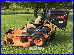 2014 Scag Cheetah 61 Zero Turn Lawnmower With Clamshell Bagger And Striping Kit