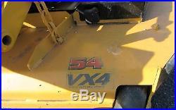 2015 Hustler X-One 54 Deck Commercial Zero Turn Mower Low Hours w. ROP Rider
