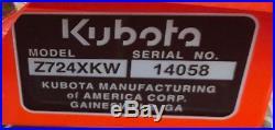2017 Kubota Z724KH-54 Zero turn mower KAWASAKI, Model FX GH735V 23.5HP