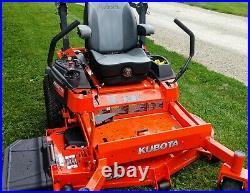 2018 Kubota Z724x 54in Commercial Zero Turn Mower Kaw Eng Suspension Seating