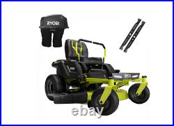 48V Brushless 42 in. 75 Ah Battery Electric Riding Zero Turn Mower and Bagging