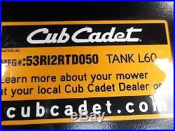 Cub Cadet Tank L60 Zero Turn Commercial Mower