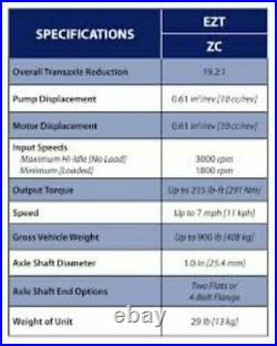 Craftsman Husqvarna Zero Turn Mower Left Transaxle 510375601 ZC-DUBB-3D8C-2WPX
