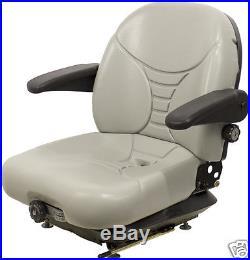 Gray Suspension Seat Fits Hustler, Exmark, Toro, Bobcat, Dixie Chopper, Zero Turn #oh