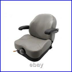 GRAY ULTRA RIDE SUSPENSION SEAT I3M Fits Exmark, Fits Toro ZERO TURN MOWERS ZTR