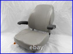 Gray, Silver Ultra High Back Seat C1211 Fits Exmark, Toro Zero Turn Mowers #us