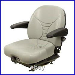 Gray Suspension Seat fits Hustler Fits Exmark Fits Toro Fits Bobcat Dixie Choppe