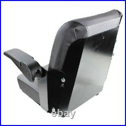 Gray Zero Turn Mower Seat With Slide Tracks (Heavy Duty Metal Frame)
