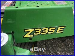 John Deere ZTRAK Zero Turn Riding Lawn Mower 42 Deck Mulch Kit 20hp Low Hours