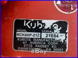 Kiubota Zd21f-60p Used Diesel Zero Turn Mower -059