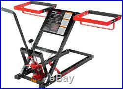 Lawn Mower Jack Lift Heavy 500lb Capacity Hydraulic ATV Zero Turn Riding Tractor