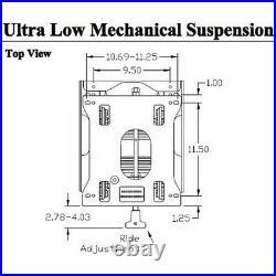 Mounting Bracket Seat Suspension Kit For Zero Turn Mowers Makes & Models