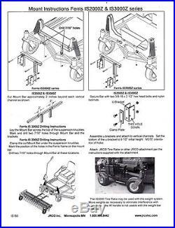 New Jrco 60 Dethatcher Tine Rake Hd 470 Series Mount Bar Ferris Zero Turn Mower