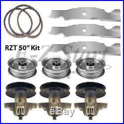 RZT 50 Zero Turn Cub Cadet TroyBilt Blade Spindle & Belt Kit Heavy Duty Blades