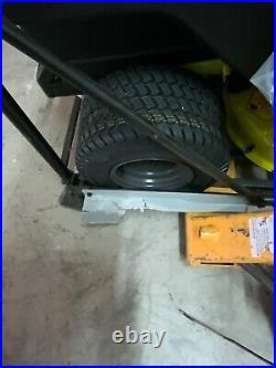 Ryobi 42 in. 100 Ah Battery Electric Zero Turn Mower (RY48ZTR100) flat tire