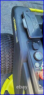 Ryobi 42 in. 100 Ah Electric Zero Turn Mower RY48ZTR100 ZT480EX Salesman sample
