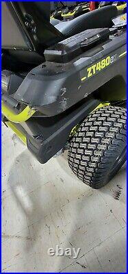 Ryobi 42in. 100Ah Electric Zero Turn Mower RY48ZTR100 ZT480EX New # 06