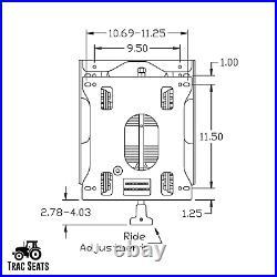 Seat Suspension Kit for Bad Boy Zero Turn Mowers Maverick, Rebel, ZT Series