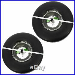 SureFit Front Solid Wheel Tire Assembly Smooth Tread 15x6-6 Zero-Turn Mower 2PK
