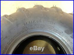 TWO New 21X11.00-8 OTR 22 Mag Zero Turn Mower Tires 21X11-8 Chevron Bar Traction