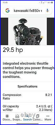 Toro Z Master 6000 Series 60in Commercial Zero Turn Mower Kaw Fx850v Efi Eng