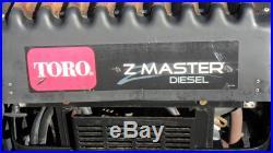 Toro Z Master Commercial Turbo Force 60 Zero Turn Mower Kubota Diesel Engine