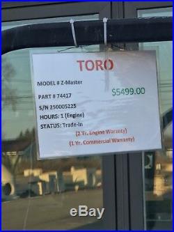 Toro Zero Turn Mower 48
