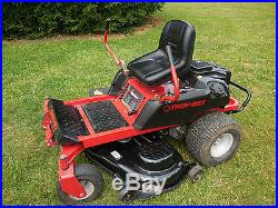 troy bilt mustang rzt zero turn mower 50 inch deck 22 hp kohler