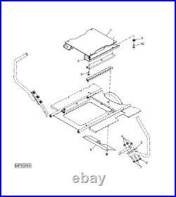 Universal Seat Suspension For Many Brands Ztr Zero Turn Mowers Deere, Exmark