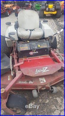 Used Exmark Lazer 60 zero turn riding mower