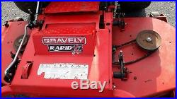 Used Gravely 60 front deck zeroturn Rapid XZ 990102 hyd lift 1075 hrs
