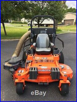 Very Nice 2014 Kubota Z725 Commercial Zero Turn Mower with Bagging System. NICE