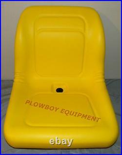 Yellow HIGH BACK SEAT for John Deere Z-Track ZTR F620 F680 Lawn Mower Zero Turn