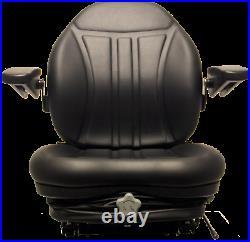 Zero Turn Turf Lawn Mower Seat with Armrests & Suspension John Deere Hustler Ect